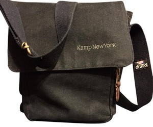 Kamp New York Black Messenger Bag