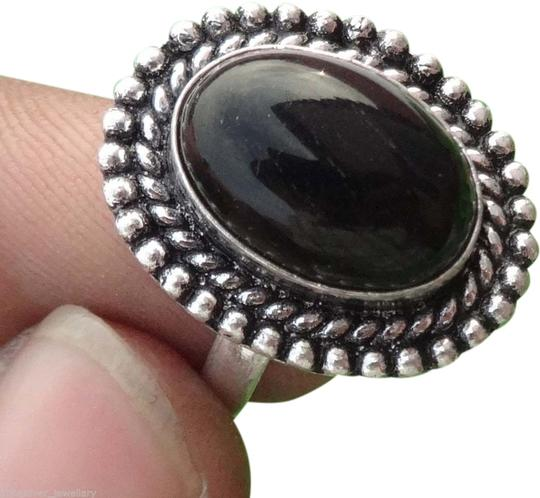 AnnaSilver New Sterling Silver Black Onyx Ring, Size 7.5, 3.2 gms.