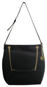 Michael Kors Large Chain Logo Medallion Shoulder Bag