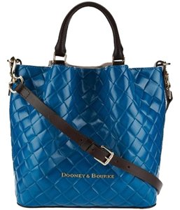 Dooney & Bourke City Woven Leather Lined Satchel in Teal