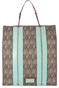 Valentino Tote in Brown, Mint, Berry