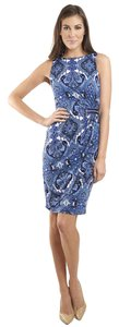 Joseph Ribkoff Sparkle Sleeveless Paisley Dress