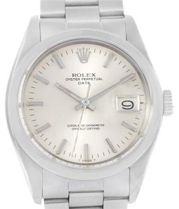 Rolex Rolex Date Stainless Steel Silver Dial Vintage Mens Watch 1500
