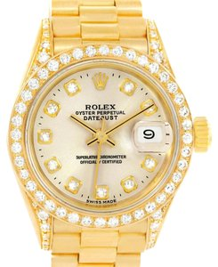 Rolex Rolex President Datejust 18K Yellow Gold Diamond Watch 69158