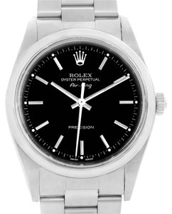 Rolex Rolex Oyster Perpetual Air King Black Dial Steel Mens Watch 14000