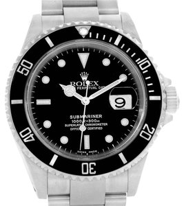 Rolex Rolex Submariner Black Dial Oyster Bracelet Steel Mens Watch 16610