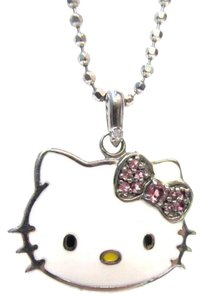 Sanrio Sanrio Sterling Silver Hello Kitty Crystal Embellished Necklace