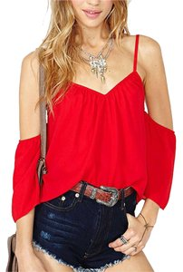 Other Size Small Cropped New Top RED