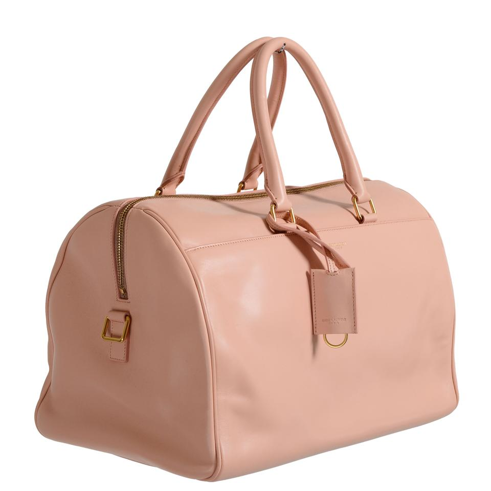 2c8a54e1ed62 Saint Laurent Duffle Women s Calfskin Classic 12 Pink Leather Tote ...