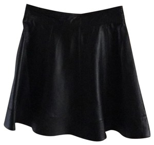 Bebe Leather skirt Mini Skirt Black