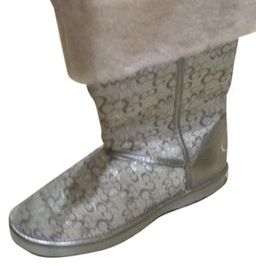 Coach Grey/tan Boots