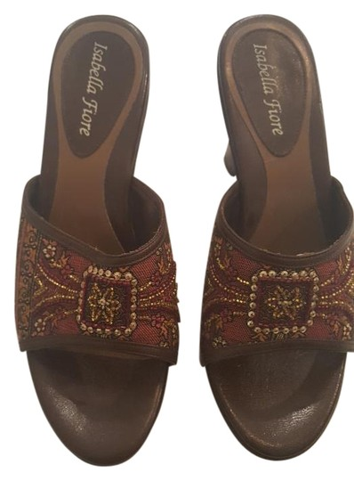 Preload https://item5.tradesy.com/images/isabella-fiore-dark-brown-vintage-tapestry-print-sandals-size-us-85-19410189-0-1.jpg?width=440&height=440