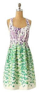 Maeve short dress Green & purple floral #anthropologie #maeve #floral #romantic #garden on Tradesy