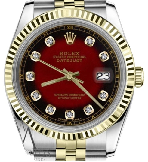 Preload https://img-static.tradesy.com/item/19410323/rolex-men-s-36mm-datejust2tone-red-vignette-color-dial-diamond-accent-rt-watch-0-1-540-540.jpg