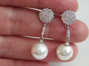 Other Vintage Bohemian Cluster Drop Earrings Top Quality Cz Stones And Pearl