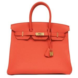 Hermès Birkin Gold Hardware Satchel in Orange