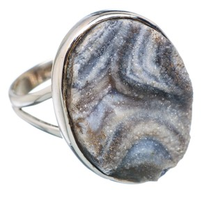 Ana Silver Co. Black Quartz Druzy .925 Sterling Silver Ring