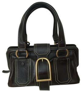 Céline Satchel in Black/Brown