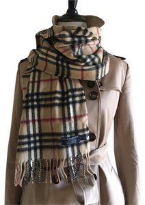 Burberry London Burberry London Cashmere 100% Scarf Wool Plaid