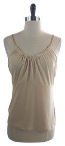 Michael Kors MICHAEL KORS Beige GOLD CHAIN STRAPS Cami Tank Shirt SIZE SMALL