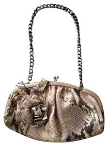 Isabella Fiore #snakeprint Wristlet in Gold Tones