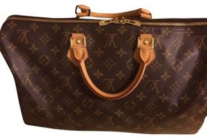 Louis Vuitton Satchel in Tan And Brown