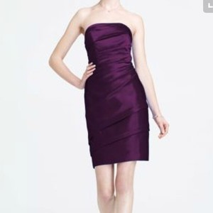 David's Bridal Plum Bridesmaid Dress Dress