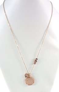 Michael Kors Michael Kors MKJ5641 MK Monogram Heart Charm Rose Gold Necklace