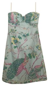 Tibi short dress Multi-color Summer Floral Peacock Bird on Tradesy
