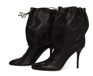 Helmut Lang Drawstring Leather Boot black Boots