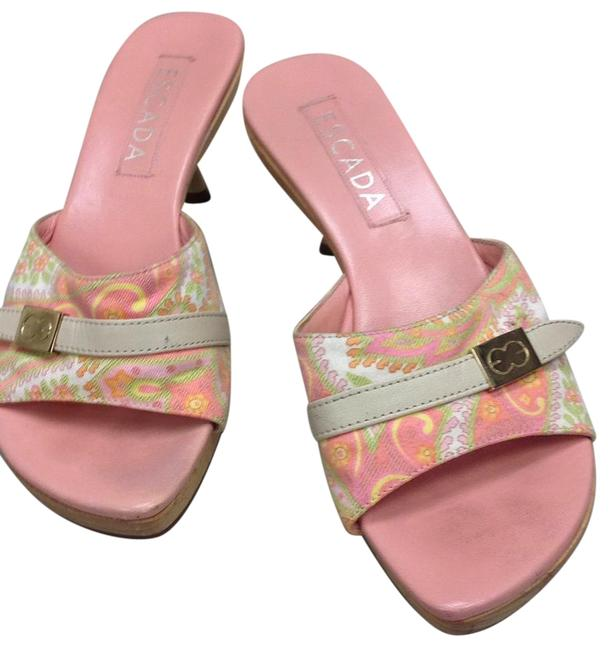 Item - Pink Platform Clogs Sandals Size US 7.5 Regular (M, B)