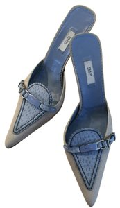 Prada Canvas with blue accents Pumps
