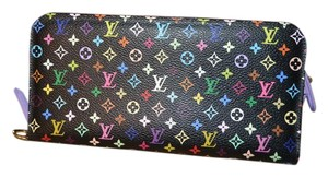 Louis Vuitton LOUIS VUITTON Multicolor Black Insolite Wallet w RARE Lavender EXC