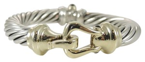 David Yurman David Yurman Sterling Silver 14K Gold 10mm Buckle Bracelet