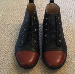 gram Scandanavia Urban Sneaker Leather Lace-up black and cognac Athletic