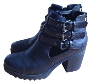 Forever 21 Leather High Heels black Boots