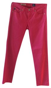 AG Adriano Goldschmied Straight Pants Hot Pink