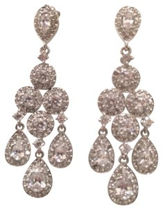 Nadri Cubic zirconia pendant chandelier earrings