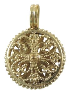 Konstantino Konstantino 18K Yellow Gold Round Scrolled Hearts Pendant