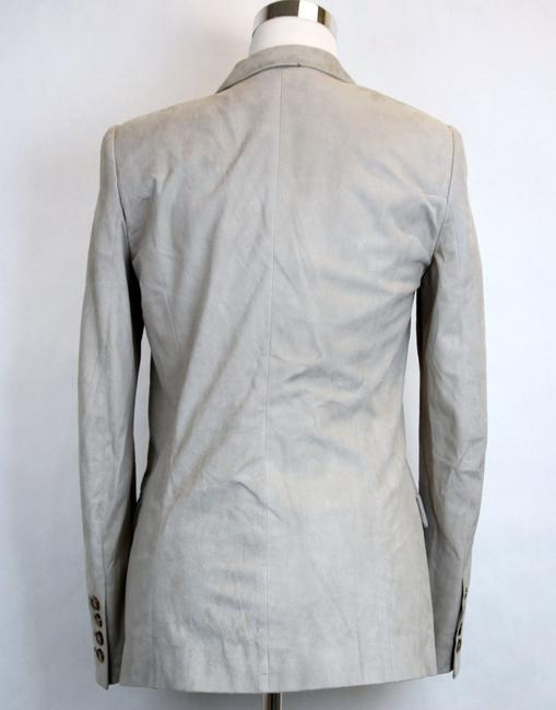 Gucci Suede Jacket 340441 Light Gray Blazer