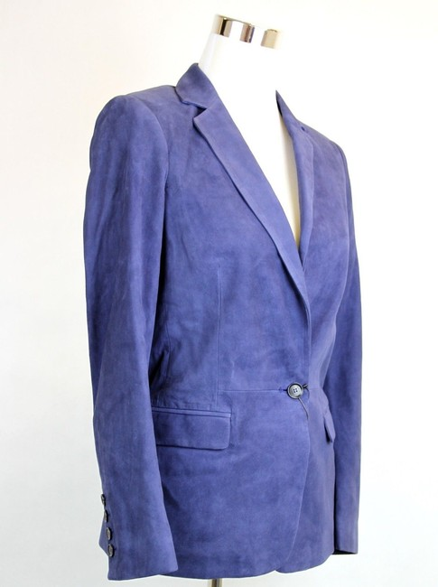Gucci Suede Jacket 340441 Blue Blazer