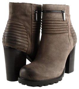 Sam Edelman Fowler Brosn Nubuck Ankle Dark Brown Boots