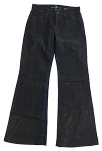 7 For All Mankind Denim Flare Leg Flare Pants Blue
