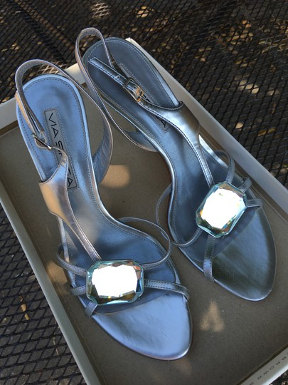 Via Spiga Jewel Silver and Crystal Sandals