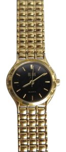 Bill Blass Black & Gold-Tone Stainless Steel Watch