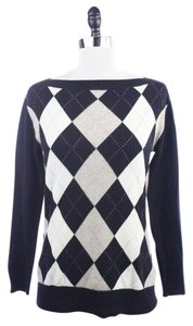 Banana Republic Ivory Argyle Cashmere Sweater