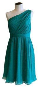 J.Crew Silk Chiffon Green Dress