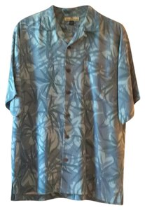 Tommy Bahama Button Down Shirt Blue Multi