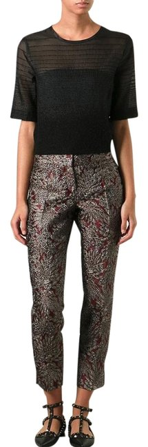 Preload https://img-static.tradesy.com/item/19411748/dolce-and-gabbana-multicolor-dolce-and-gabbana-brocade-grey-cigarette-38-pants-size-2-xs-26-0-1-650-650.jpg