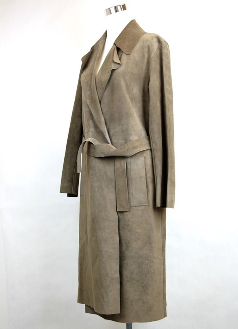 Gucci Runway Suede Belted Trench Coat